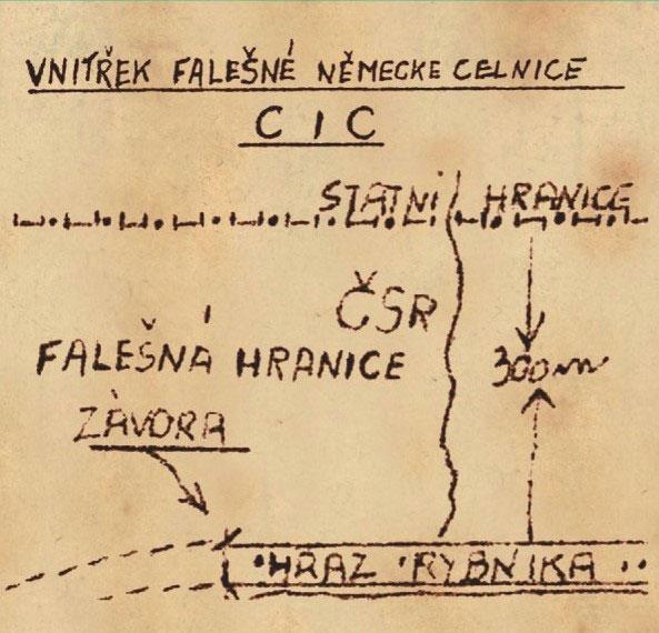 Vnitřek falešné německé celnice